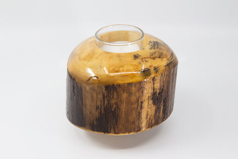 Colorado Aspen Wood Candle Holder