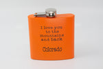 "Pocket Flask ""I Love You To The Mountains And Back"""