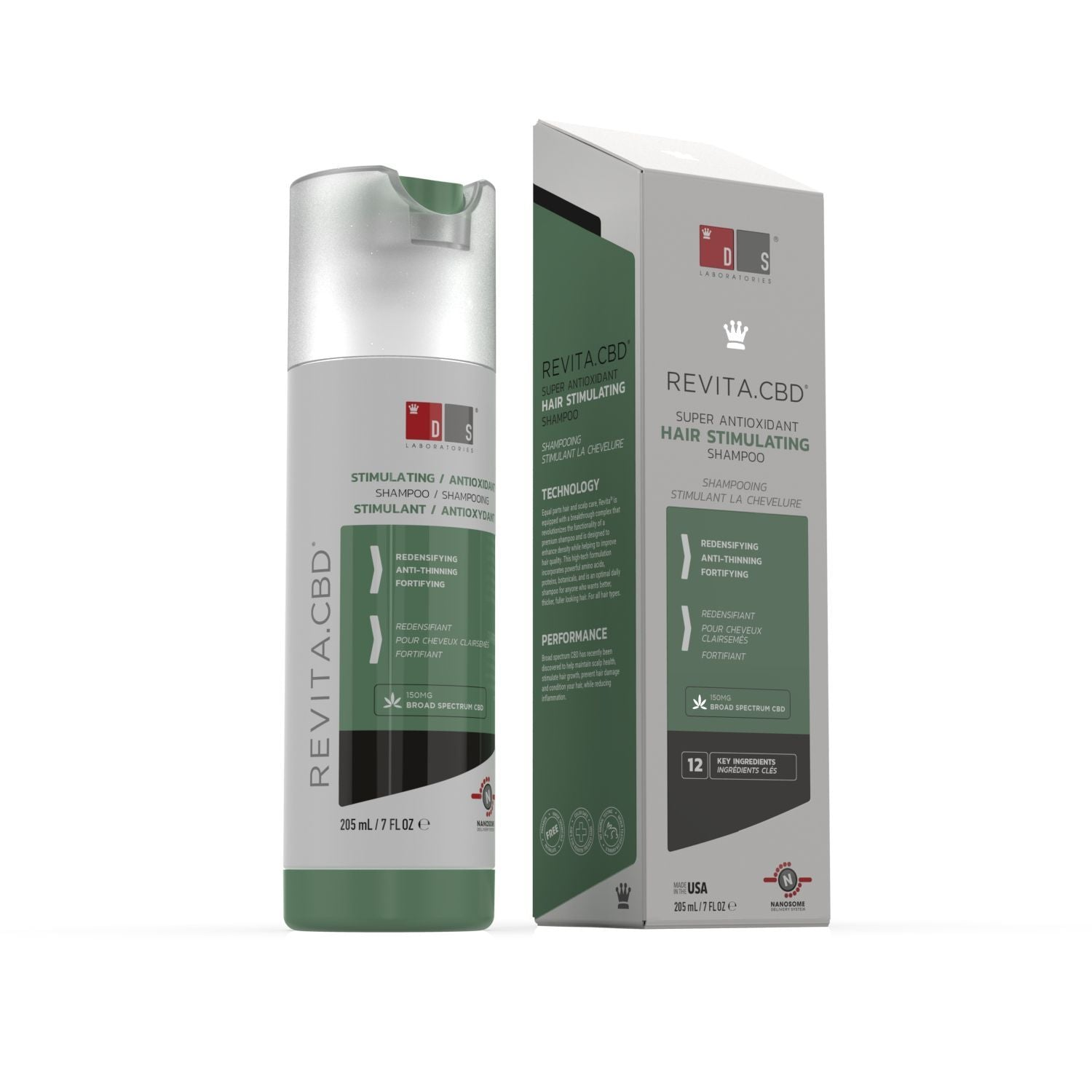 Revita.CBD | Super Antioxidant Hair Stimulating CBD Shampoo