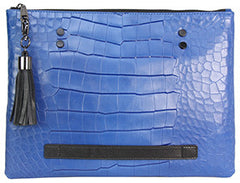 Croco Effect Oversized Clutch