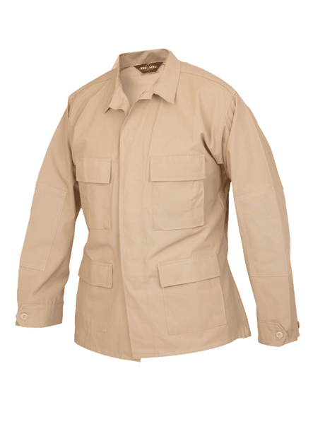 Solid Color BDU Coat, 100% Cotton Rip-Stop