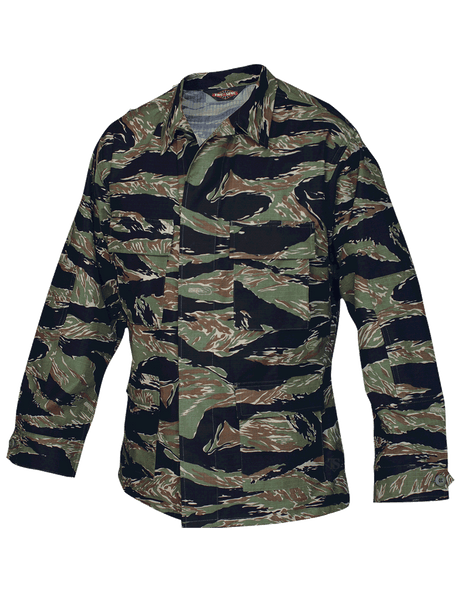 Camo BDU Coat, 100% Cotton Rip-Stop