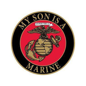 """My Son Is A Marine"" Morale Pin"