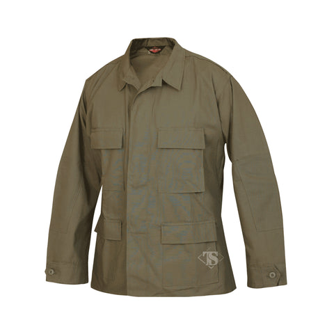 Solid Color BDU Coat, 100% Cotton Rip-Stop From Tru-Spec