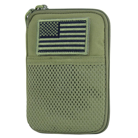 Green Pocket Pouch with USA flag patch.
