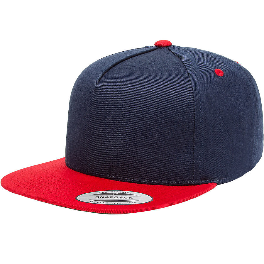 custom flexfit 6007t classic five-panel two-tone snapback high quality low minimum headwearhut.com