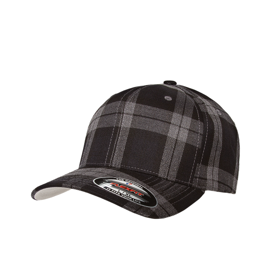 custom flexfit 6197 tartan plaid hat high quality low minimum headwearhut.com