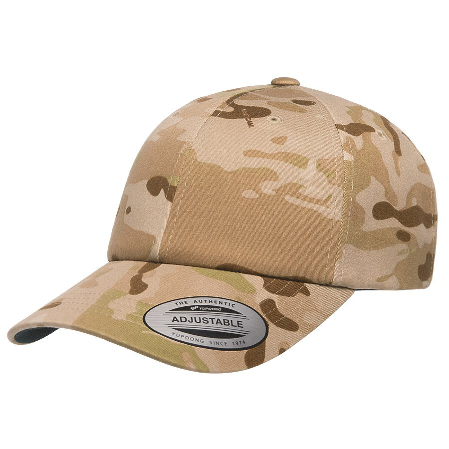 custom flexfit 6245mc low profile cotton twill multicam hat high quality low minimum headwearhut.com