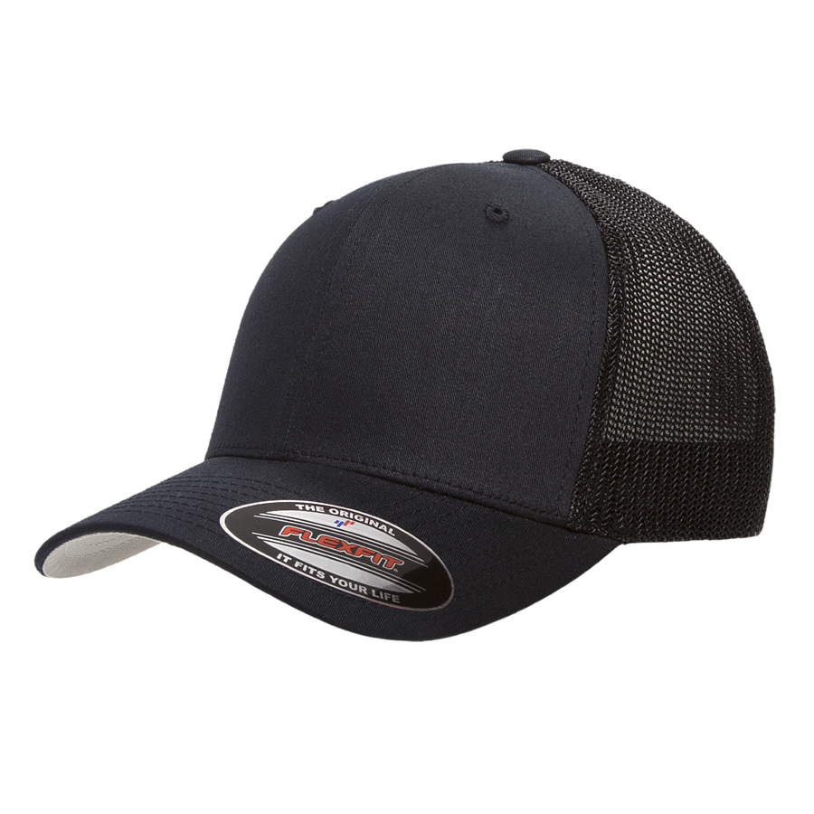 custom flexfit 6511 mesh cotton trucker high quality low minimum headwearhut.com