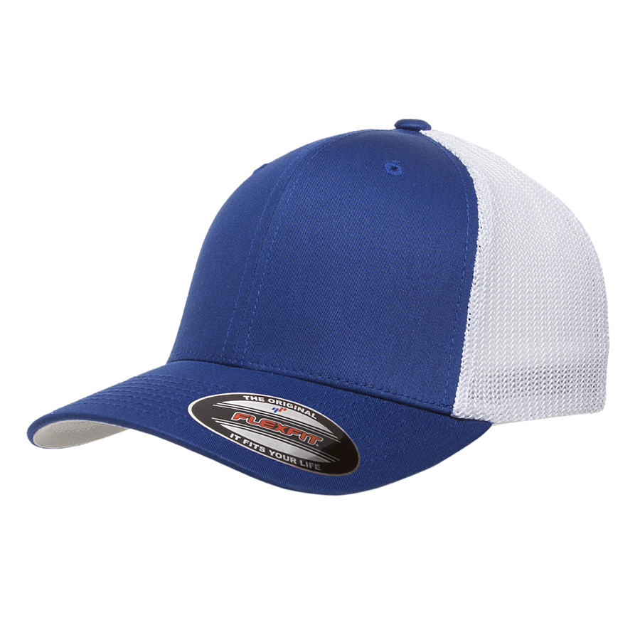 flexfit 6511t mesh cotton twill trucker hat high quality low minimum headwearhut.com