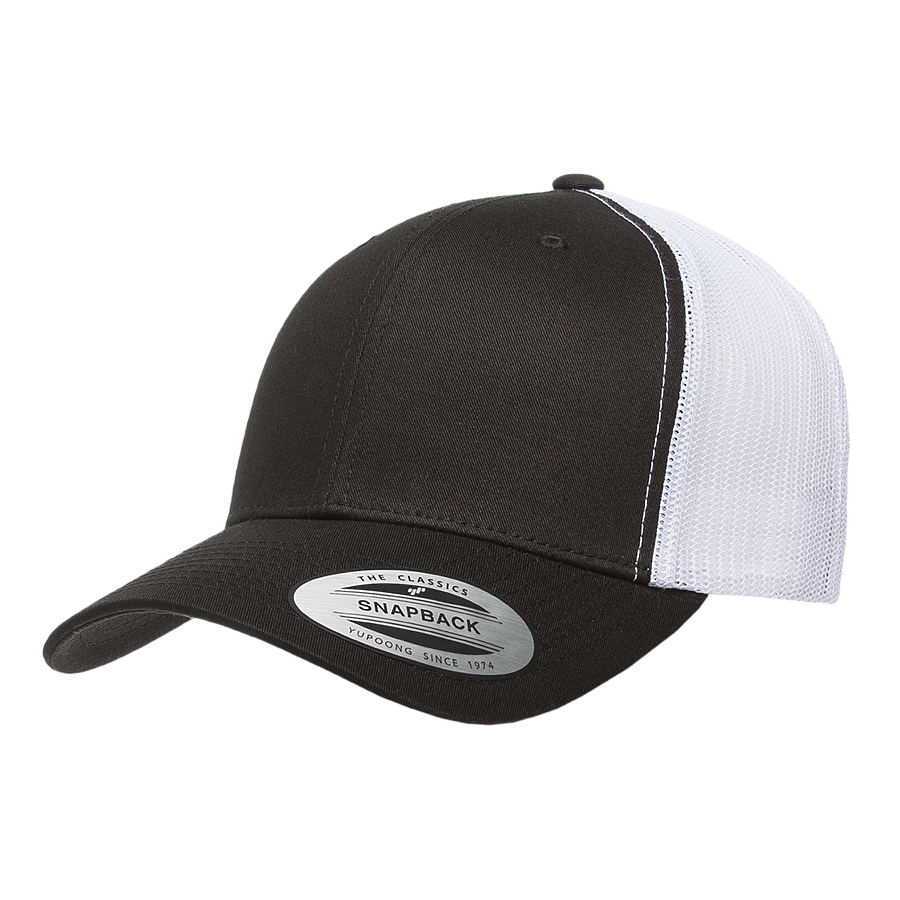flexfit 6606t retro snapback trucker high quality low minimum headwearhut.com
