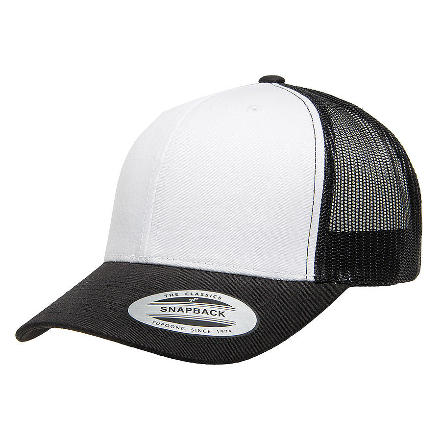 flexfit 6606w retro trucker two-tone hat high quality low minimum headwearhut.com