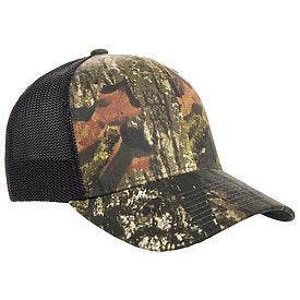 flexfit 6911 mossy oak stretch mesh hat high quality low minimum headwearhut.com