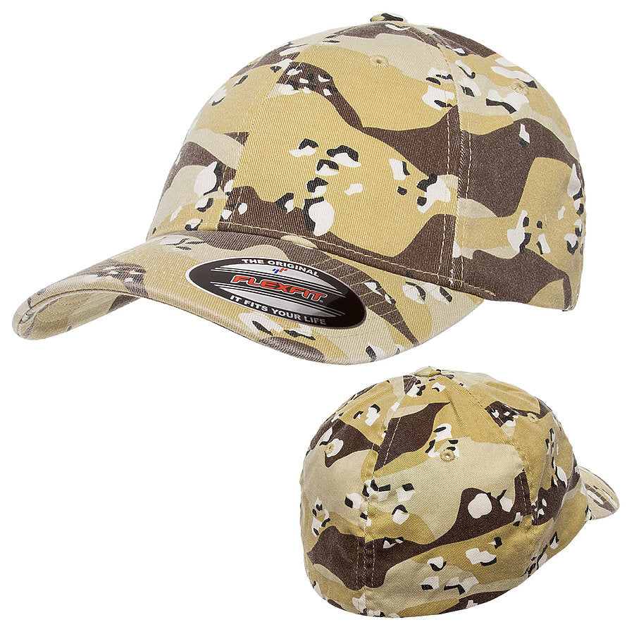 flexfit 6977ca garment washed camouflage hat high quality low minimum headwearhut.com