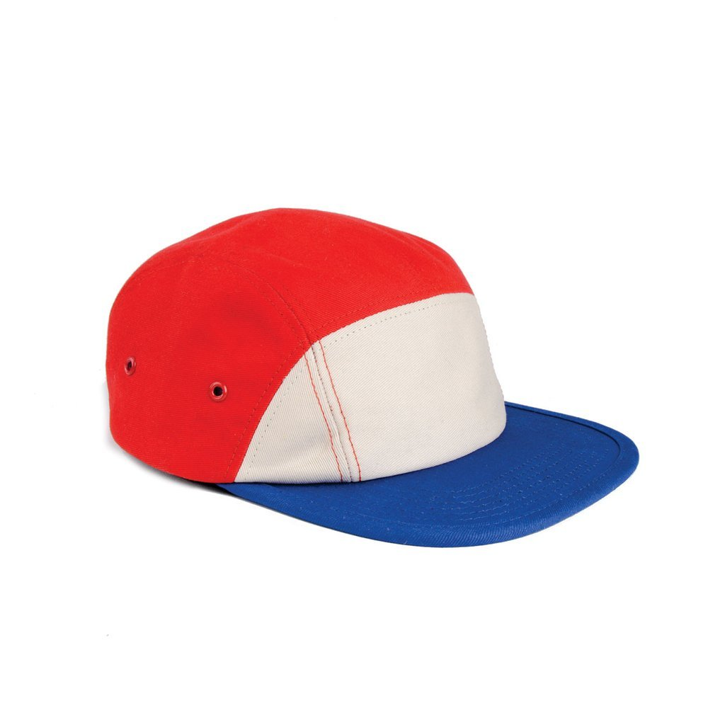 delusion mfg red white and blue 7 panel camp cap high quality low minimum headwearhut.com