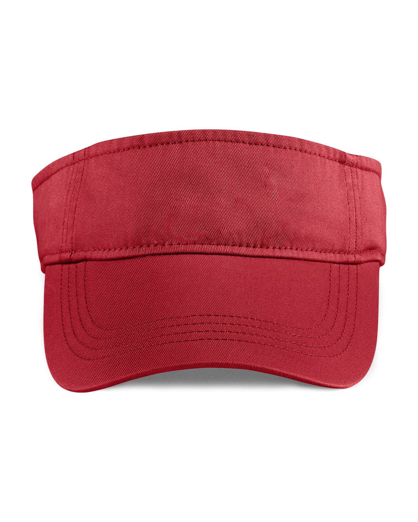 custom anvil 158 solid three-panel low profile twill visor high quality low minimum headwearhut.com