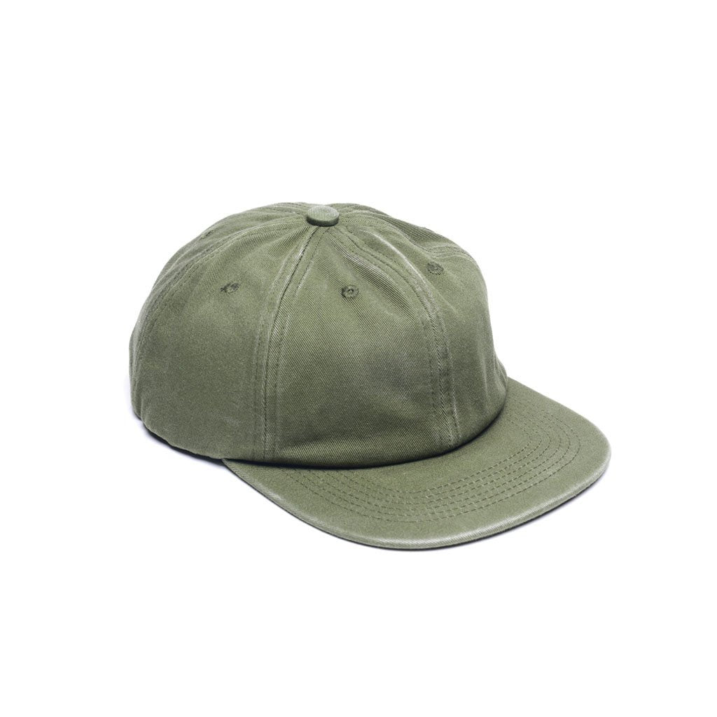 custom Delusion MFG Army Green - Faded Unconstructed 6 Panel Hat