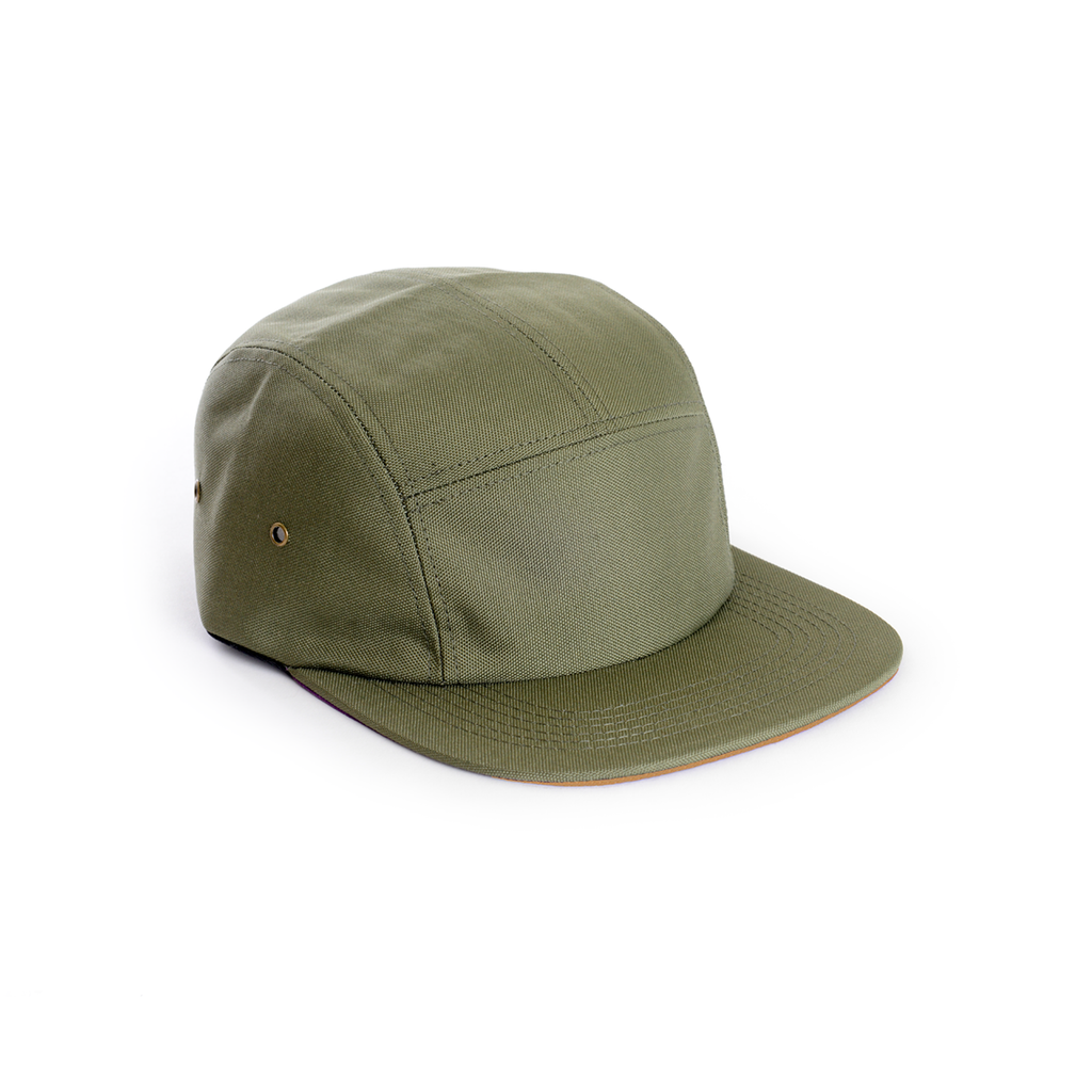 custom Delusion MFG Army Green - Polyester Contrast Blank 5 Panel Hat