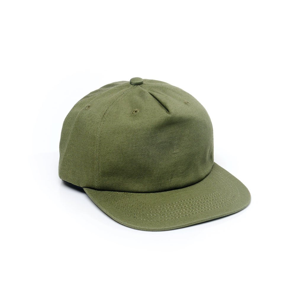 Delusion MFG Army Green - Unconstructed 5 Panel Strapback Hat