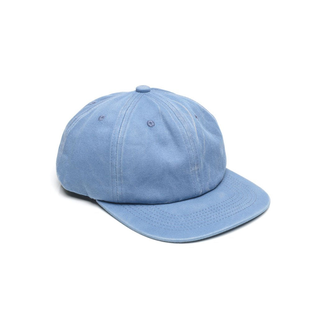 custom delusion mfg baby blue faded unconstructed 6 panel hat high quality low minimum headwearhut.com