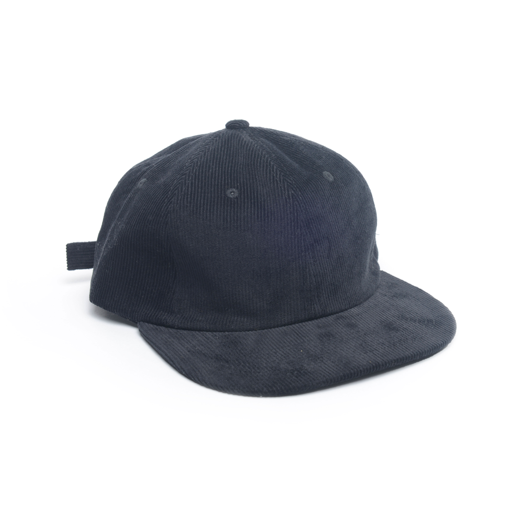 delusion mfg black corduroy unconstructed floppy 6 panel hat high quality low minimum headwearhut.com