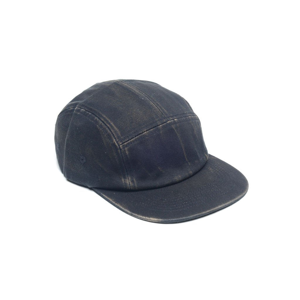 delusion mfg black faded cotton twill blank 5 panel hat high quality low minimum headwearhut.com