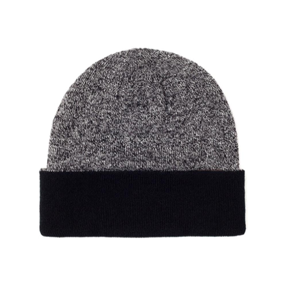 custom delusion mfg black / grey blank mixed beanie hat high quality low minimum headwearhut.com