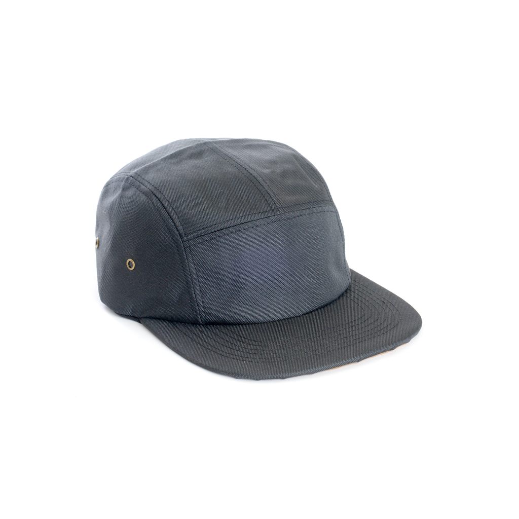 custom delusion mfg black polyester contrast blank 5 panel hat high quality low minimum headwearhut.com