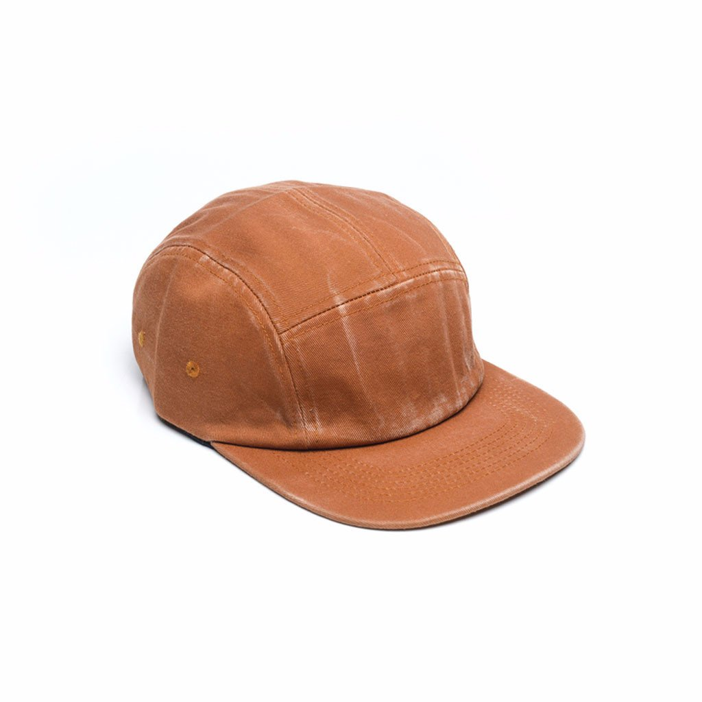 custom delusion mfg burnt orange faded cotton twill blank 5 panel hat high quality low minimum headwearhut.com