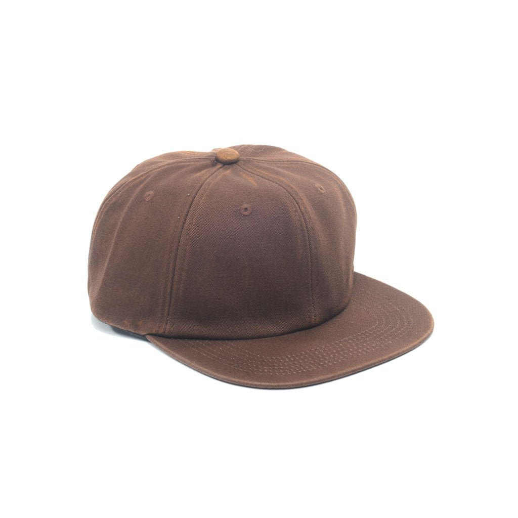 custom delusion mfg chocolate brown faded unconstructed 6 panel hat high quality low minimum headwearhut.com