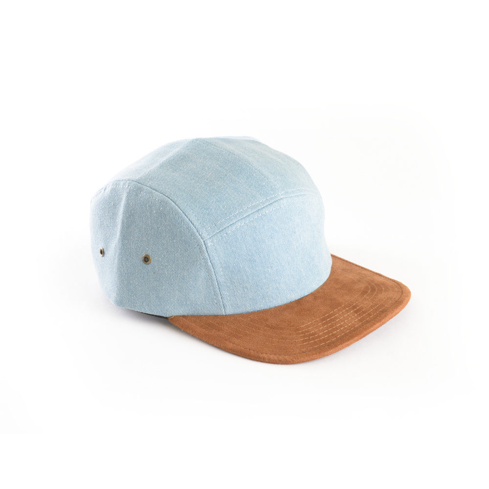 custom delusion mfg denim and suede blank 5 panel hat high quality low minimum headwearhut.com