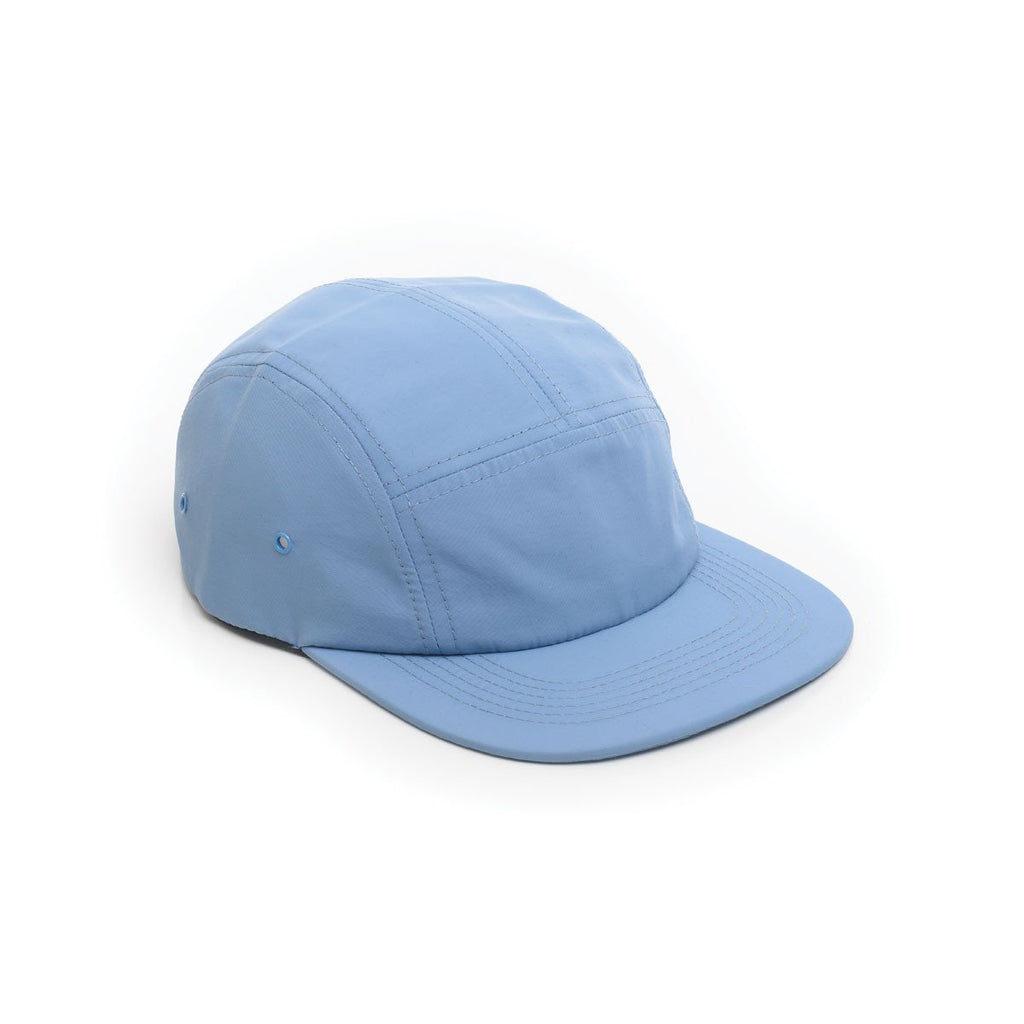 delusion mfg light blue nylon 5 panel hat high quality low minimum headwearhut.com