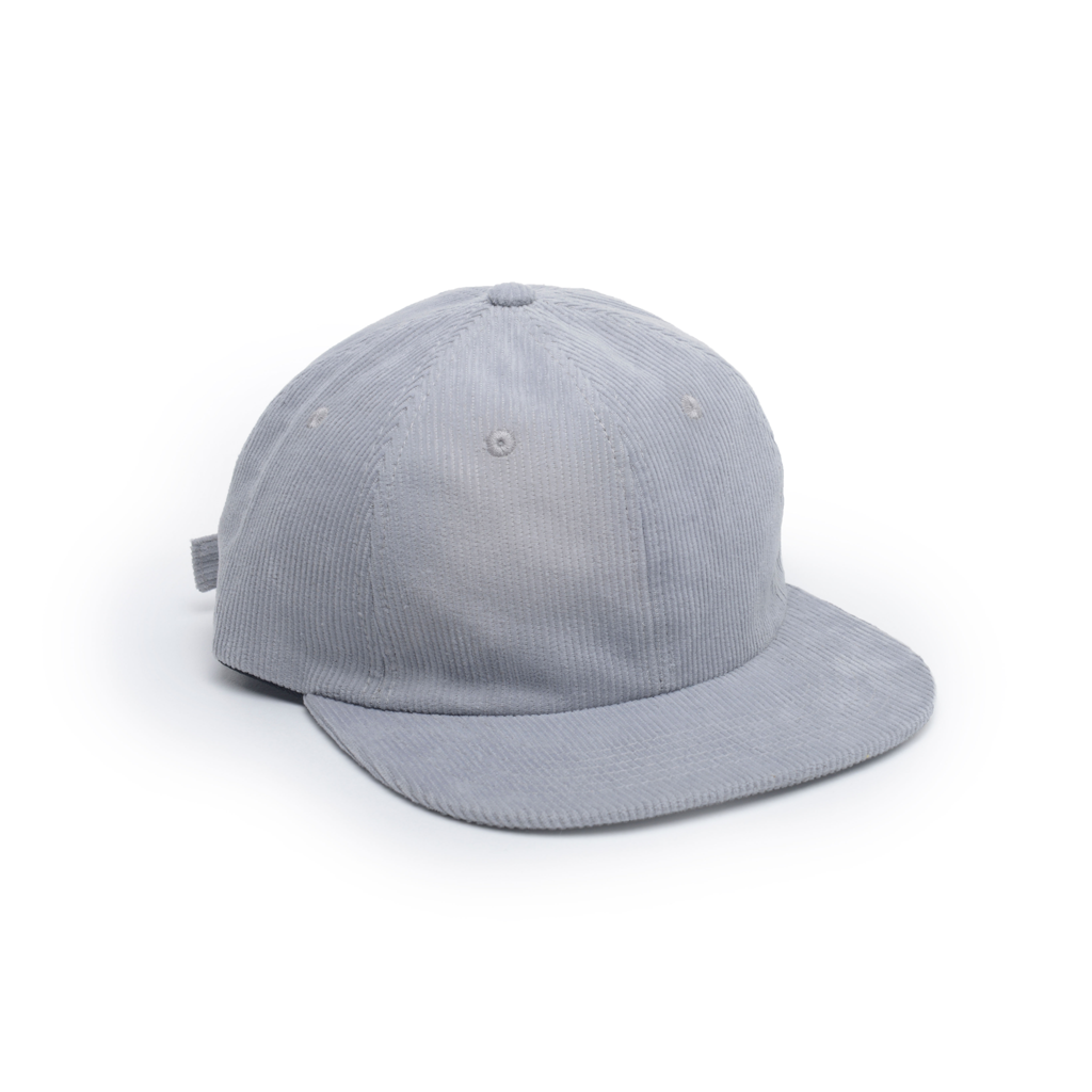 custom delusion mfg light grey corduroy unconstructed floppy 6 panel hat high quality low minimum headwearhut.com
