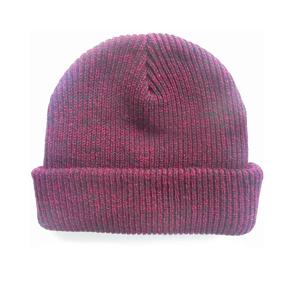 custom delusion mfg maroon blank mixed beanie hat high quality low minimum headwearhut.com