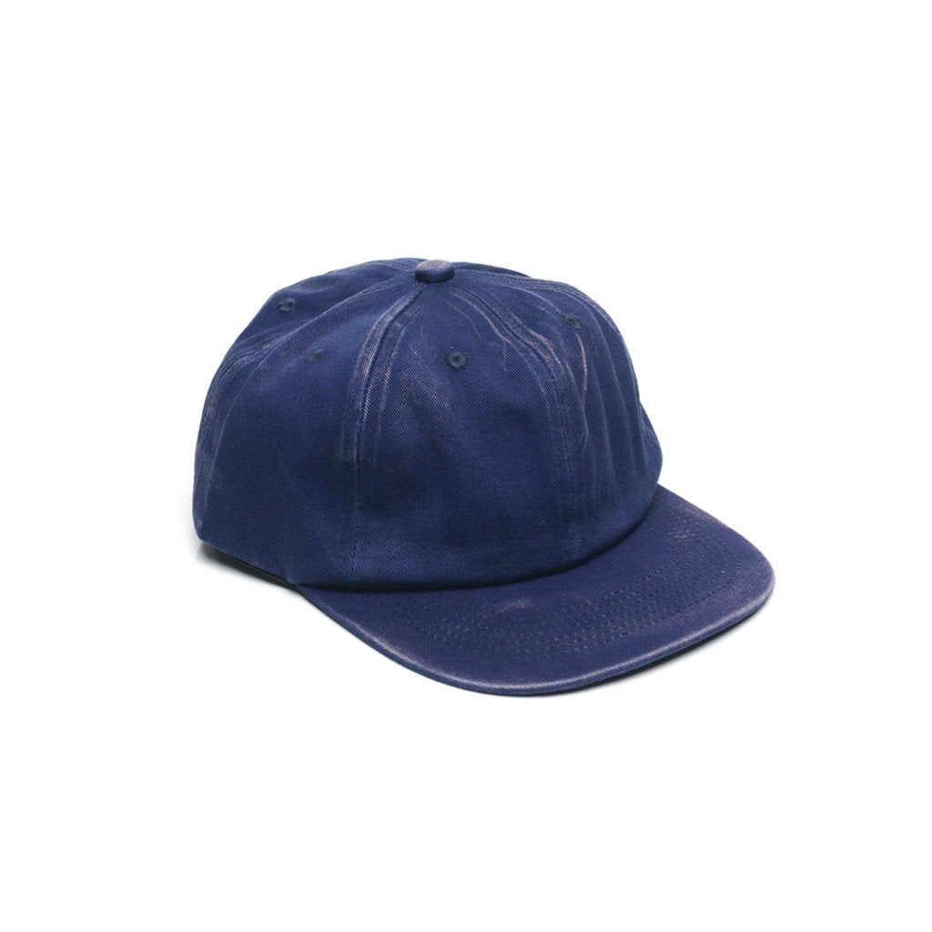 custom delusion mfg navy blue faded unconstructed 6 panel hat high quality low minimum headwearhut.com