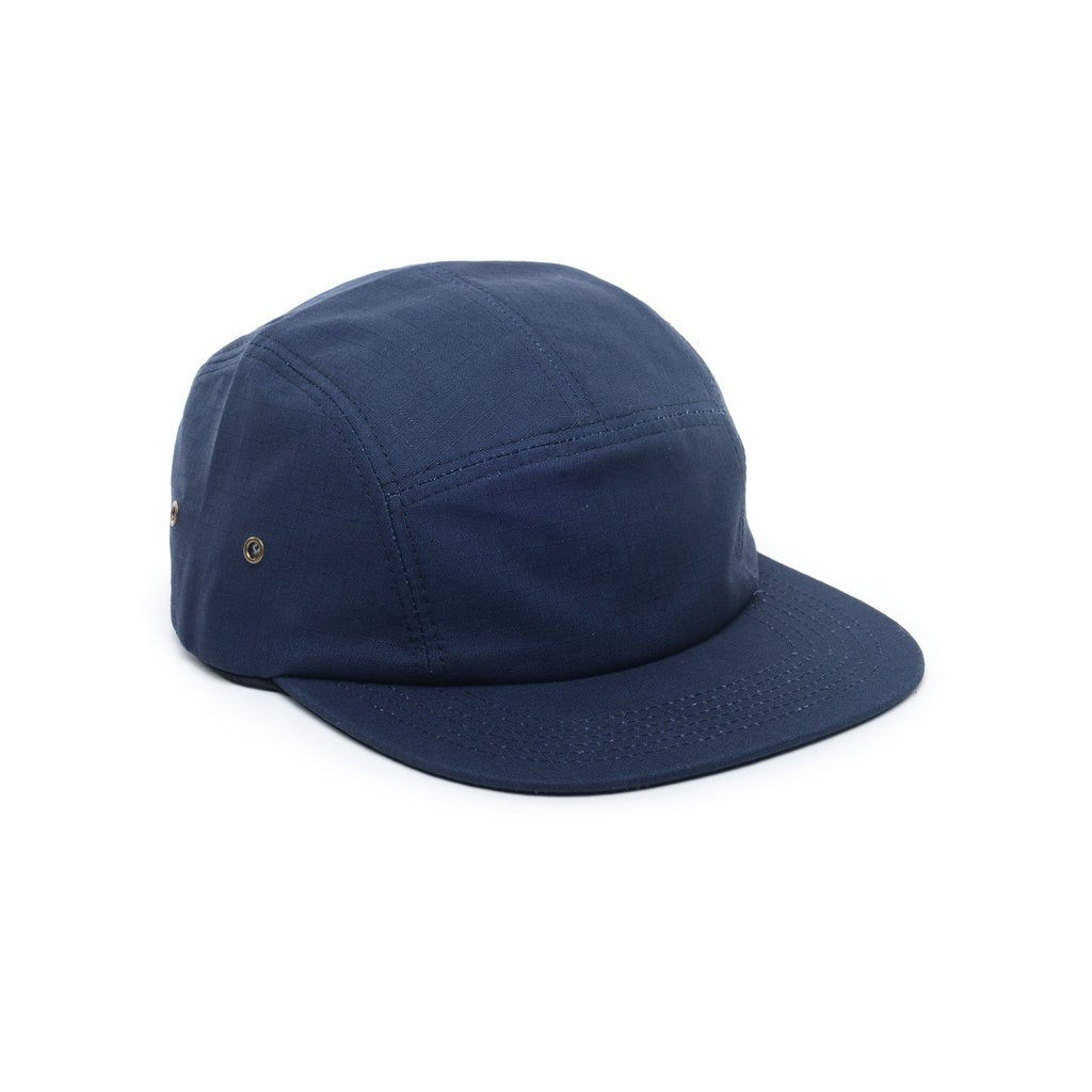 custom delusion mfg navy blue ripstop cotton blank 5 panel hat high quality low minimum headwearhut.com