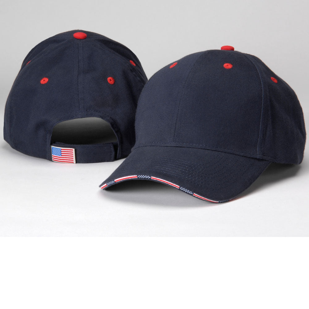 adams headwear pa102 patriot six-panel hat high quality low minimum headwearhut.com
