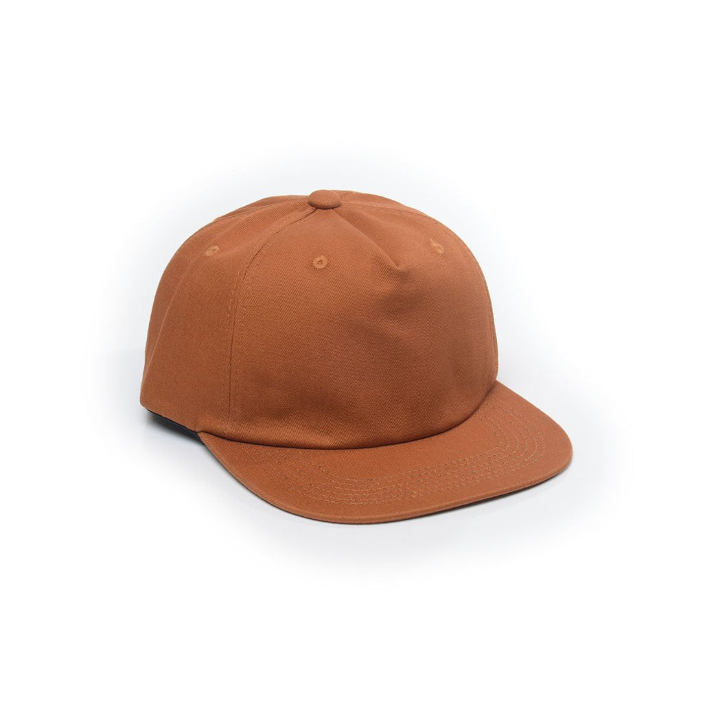 delusion mfg rust unconstructed 5 panel strapback hat high quality low minimum headwearhut.com