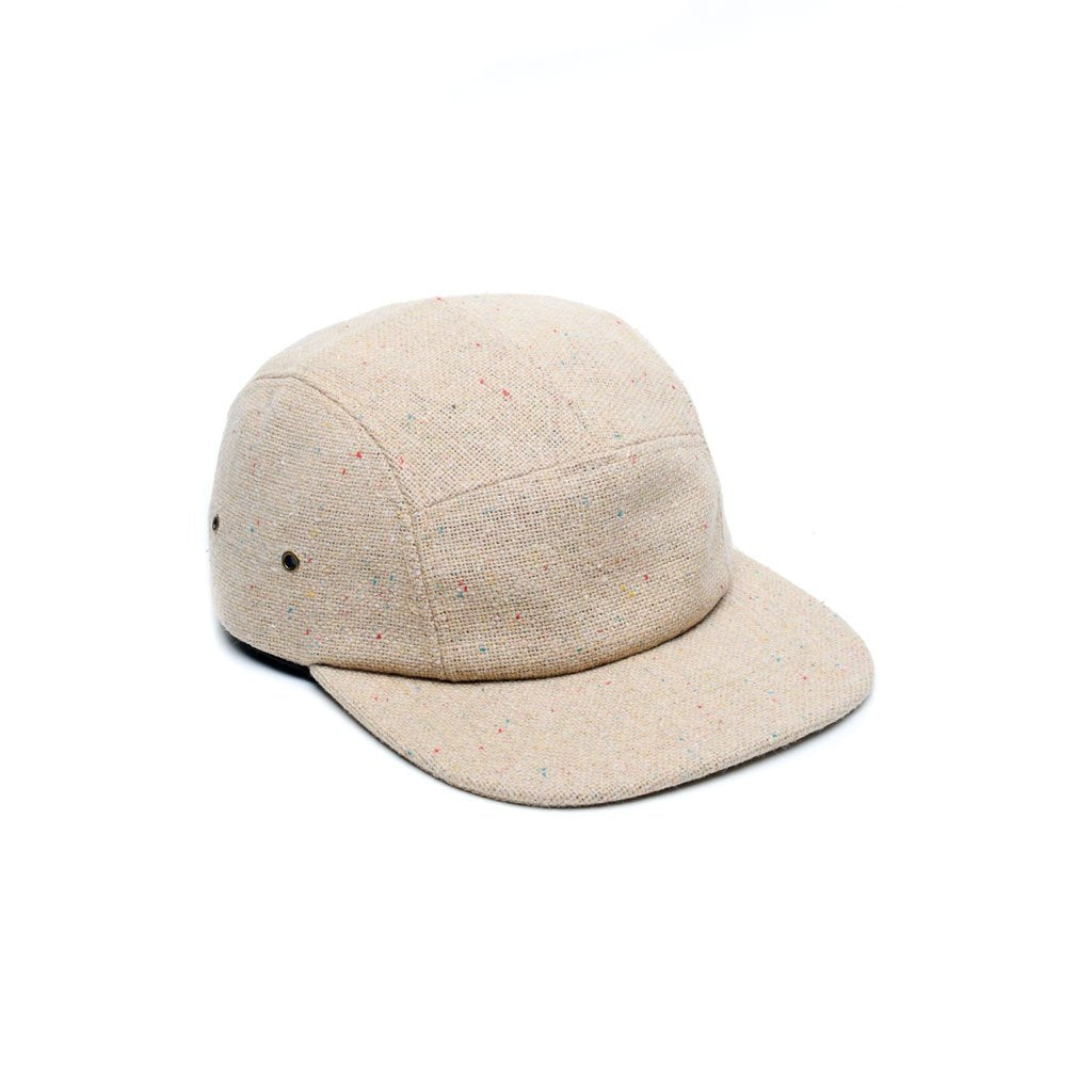 custom delusion mfg tan tweed wool blank 5 panel hat high quality low minimum headwearhut.com