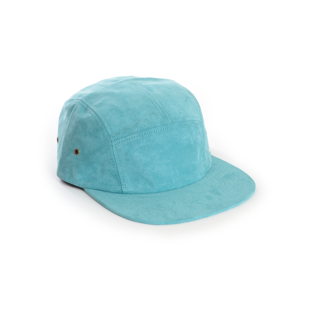 custom delusion mfg teal full suede blank 5 panel hat high quality low minimum headwearhut.com