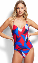 Load image into Gallery viewer, Seafolly Aloha V Neck Chilli