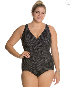 Miracle Suit Blk/White Dots