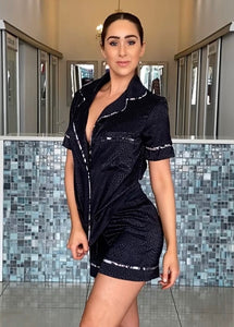 Luxe Sleepwear Black Snake Silk