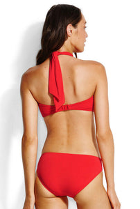 Seafolly Chilli Red Bandeau Bikini