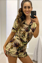Load image into Gallery viewer, Sleepwear Brown Tropical Short Set