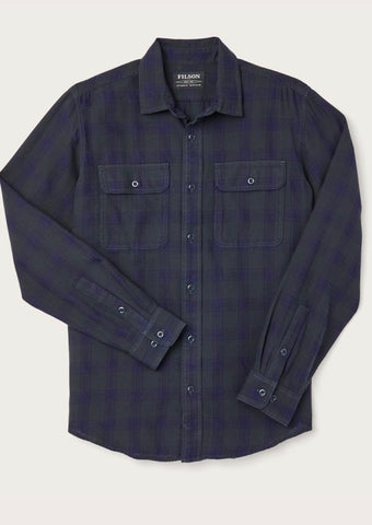 Filson Men's Scout Shirt - Black/Indigo - Dirtbag Shop