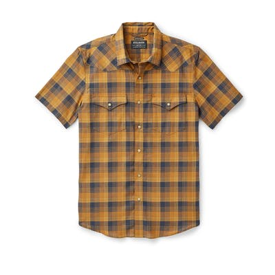 Filson Snap Front Guide Shirt - Bronze & Navy - Dirtbag Shop