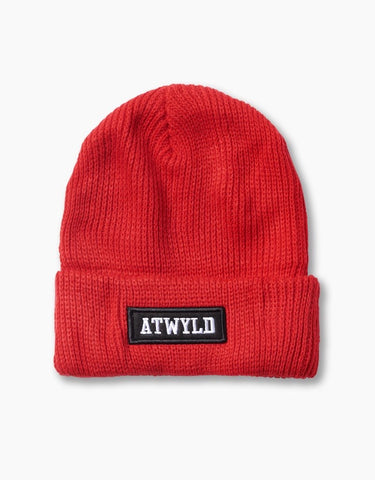 ATWYLD Cassius Beanie - Red/Navy - Dirtbag Shop