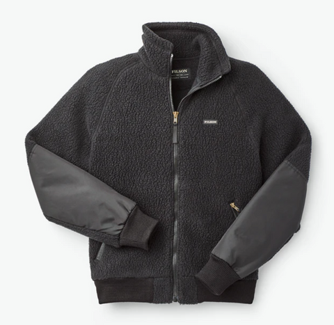 Filson Sherpa Fleece Jacket - Black - Dirtbag Shop