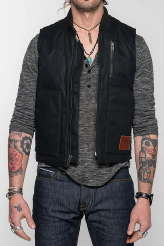Tobacco Wasteland Men's Vest - Black - Dirtbag Shop